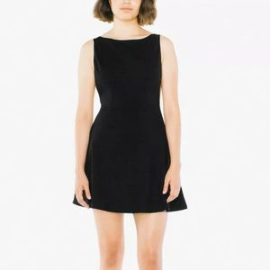 Black Velvet Sleeveless Skater Dress
